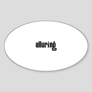 Alluring Oval Sticker