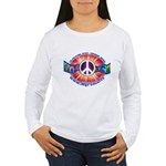 Women's Long Sleeve Peace Sign T-Shirt