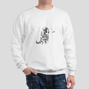 Catoons tuba cat Sweatshirt