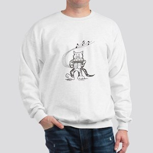 Catoons harmonica cat Sweatshirt