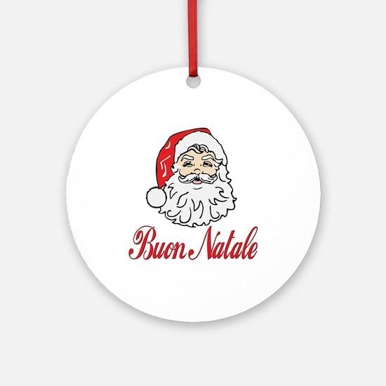 Buon natale Ornament (Round)
