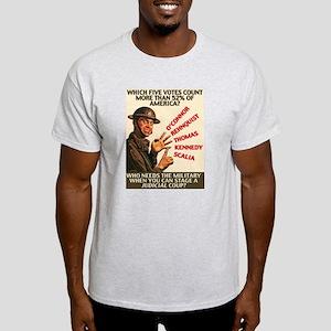Judicial Coup Ash Grey T-Shirt