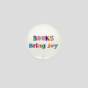Books Bring Joy Mini Button