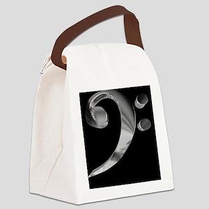 GrandRoyalBassClefDeepPlat Canvas Lunch Bag