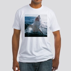 High Flying Shark Fitted T-Shirt