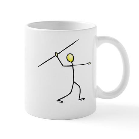 Stick figure javelin Mug
