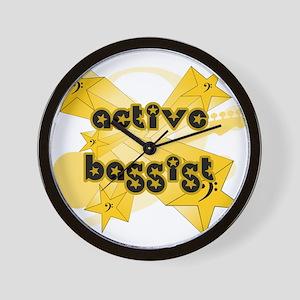 Active Bassist Wall Clock