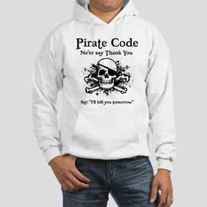 Pirate Thank You Hooded Sweatshirt