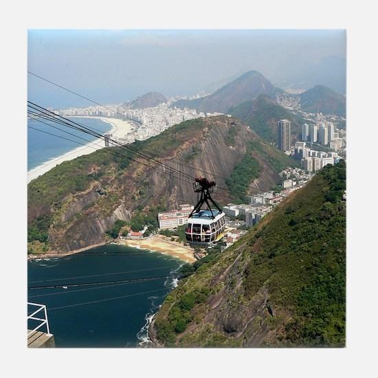 View of Rio de Janeiro Tile Coaster