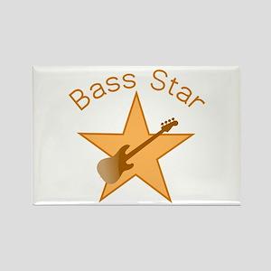 Bass Star Rectangle Magnet