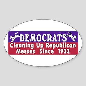 Democrats Oval Sticker