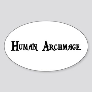 Human Archmage Oval Sticker