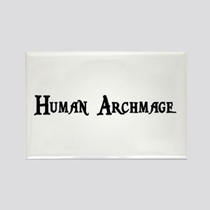 Human Archmage Rectangle Magnet