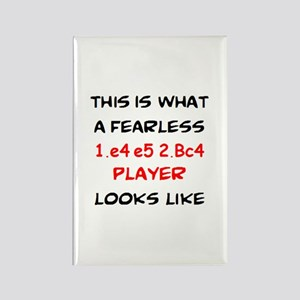 awesome 1.e4 e5 2.Bc4 player Rectangle Magnet