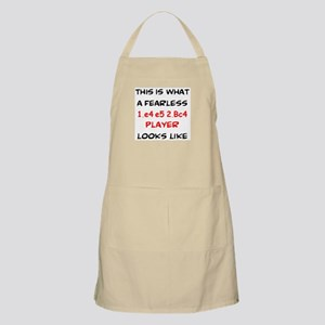 awesome 1.e4 e5 2.Bc4 player Apron