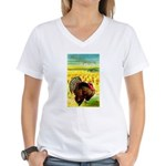 Harvest Thanksgiving Women's V-Neck T-Shirt