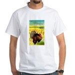Harvest Thanksgiving White T-Shirt