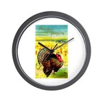 Harvest Thanksgiving Wall Clock