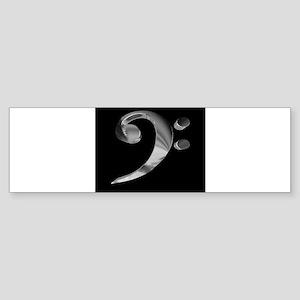 GrandRoyalBassClefDeepPlat Bumper Sticker