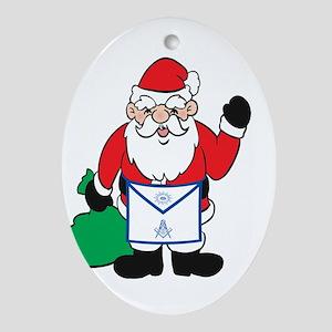 Masonic Santa Christmas Oval Ornament