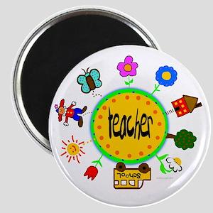"""whimsical Teacher 2.25"""" Magnet (10 pack)"""