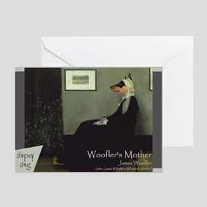 Basenji WHISTLER'S MOTHER Greeting Cards (Pk of 10