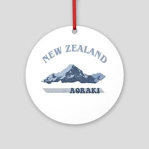 Aoraki New Zealand Vintage Ornament (Round)