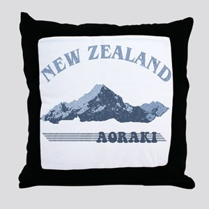 Aoraki New Zealand Vintage Throw Pillow