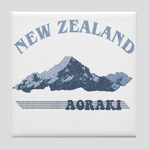 Aoraki New Zealand Vintage Tile Coaster