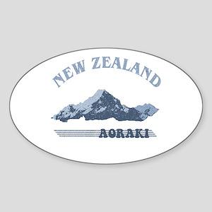Aoraki New Zealand Vintage Oval Sticker