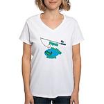 Papa's Fishing Buddy Women's V-Neck T-Shirt