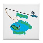 Papa's Fishing Buddy Tile Coaster