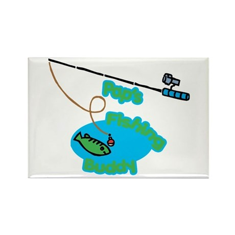 Pap's Fishing Buddy Rectangle Magnet (100 pack)