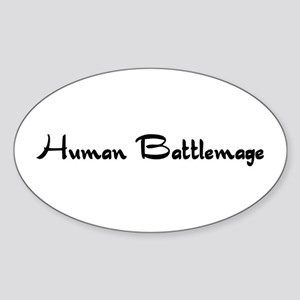 Human Battlemage Oval Sticker