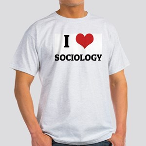 I Love Sociology Ash Grey T-Shirt