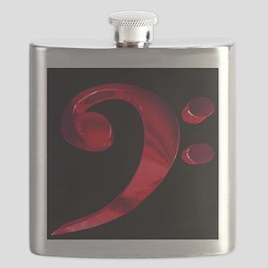 GrandRoyalBassClefDeepRed Flask
