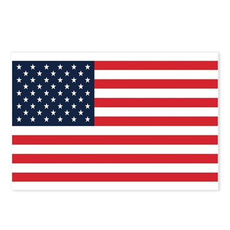 American Flag Stuff Postcards (Package of 8)