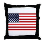 American Flag Stuff Throw Pillow