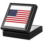 American Flag Stuff Keepsake Box