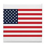 American Flag Stuff Tile Coaster