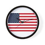 American Flag Stuff Wall Clock