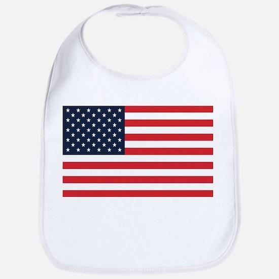 American Flag Stuff Bib