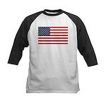 American Flag Stuff Kids Baseball Jersey