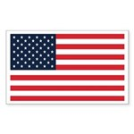 American Flag Stuff Rectangle Sticker
