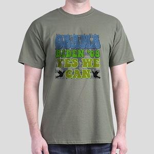 Obama Retro Yes We Can Dark T-Shirt
