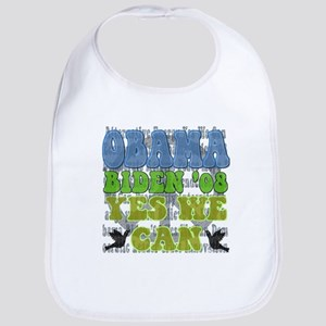 Obama Retro Yes We Can Bib