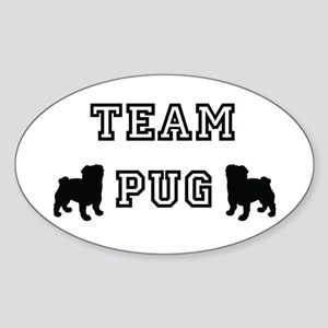 Team Pug Oval Sticker