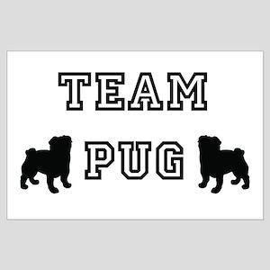 Team Pug Large Poster