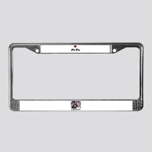 LOVE MY DOG License Plate Frame