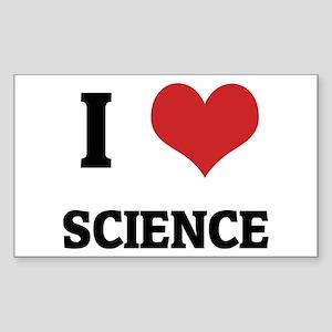 I Love Science Rectangle Sticker